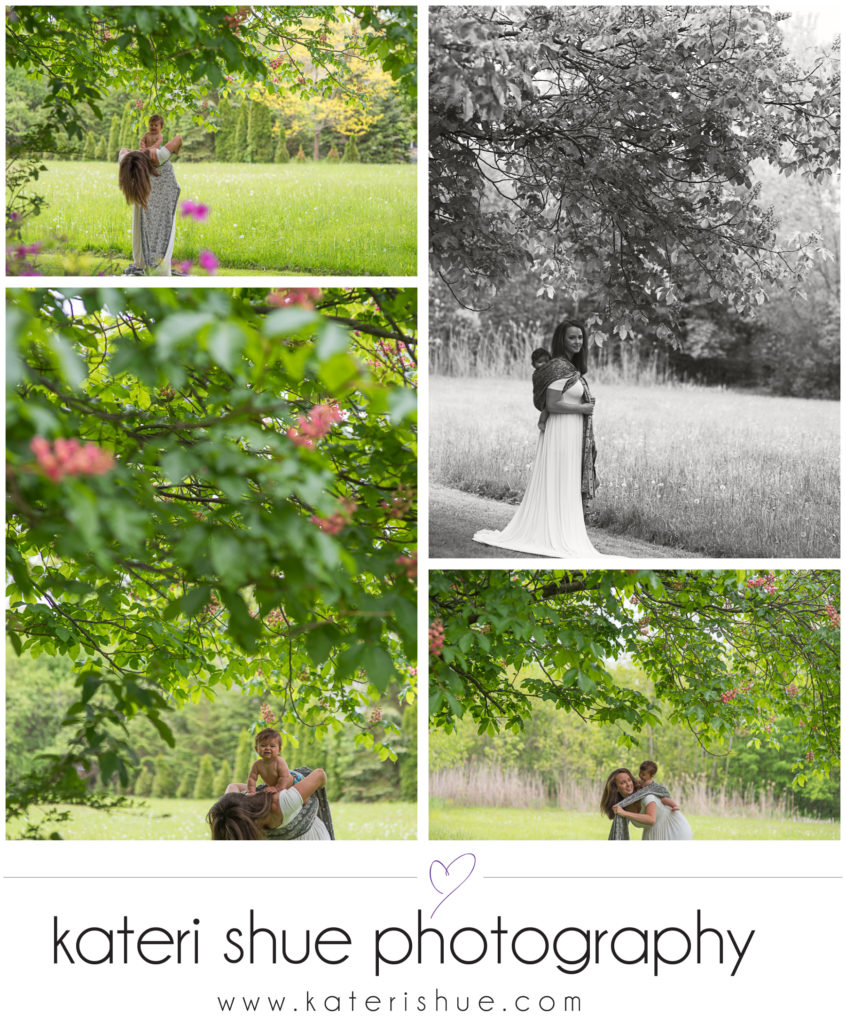 Detroit Babywearing Photographer garden