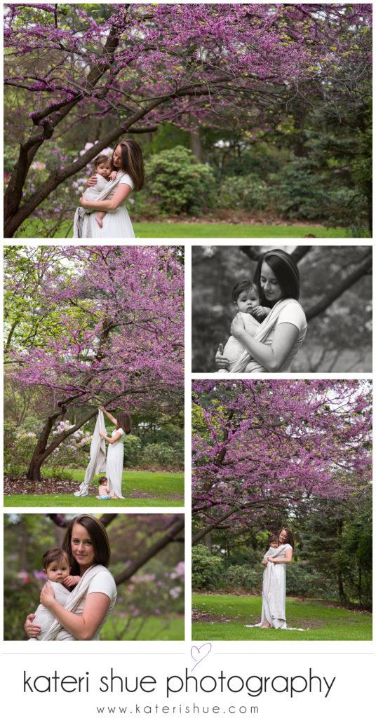 Downriver babywearing photo session belle isle