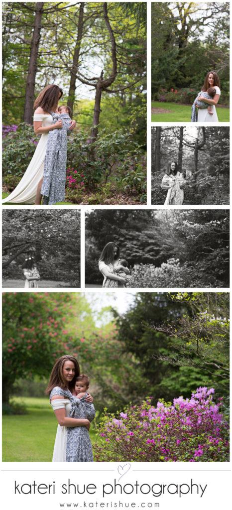 belle isle westcroft gardens babywearing photography session mot