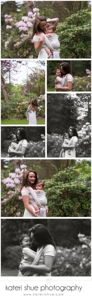 Westcroft Gardens Babywearing Photography Session