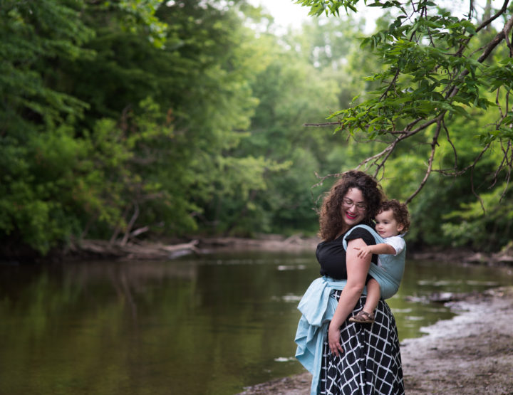 Becky & Niko's Babywearing Session - Sterling Heights Photographer