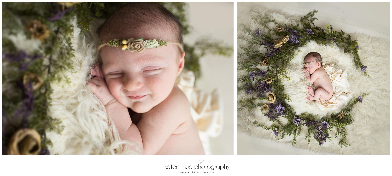 amelia, metro detroit, motherhood photographer, newborn, flowers, unique, michigan