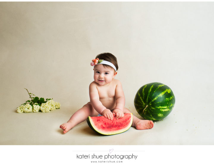 Lillian - One Year Session and Watermelon Smash - Michigan Milestone Photographer